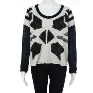 WE THE FREE by FREE PEOPLE, B&W TOP SIZE SM